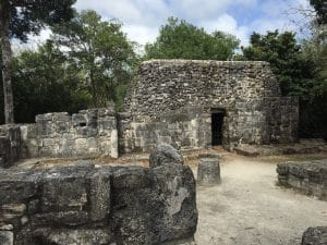 Mayan ruins site in Cozumel