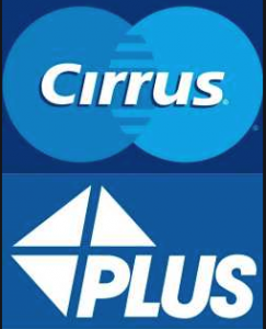 Cirrus and Plus ATM logos