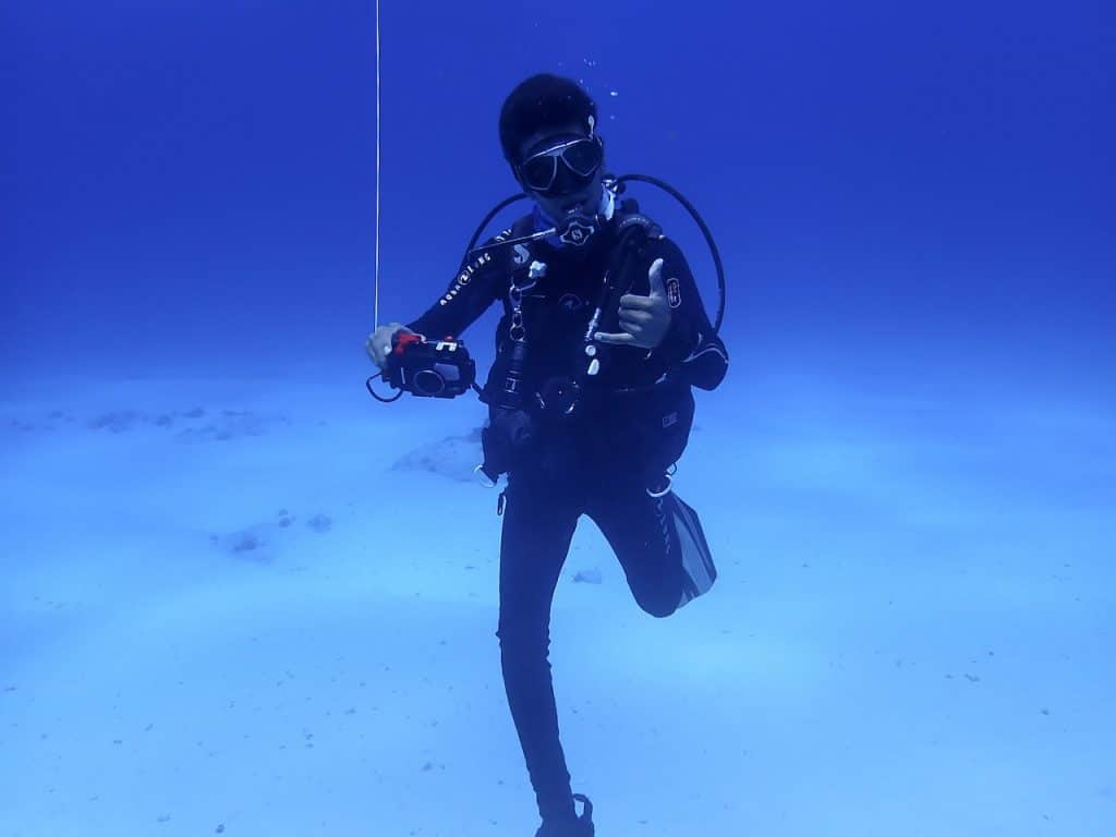 Dive instructor in Cozumel