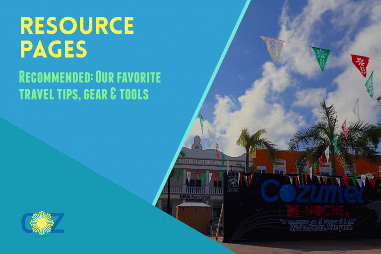 Resources Page Title and Image of Cozumel main plaza