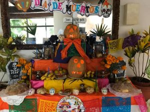 Dia de los muertos offering display