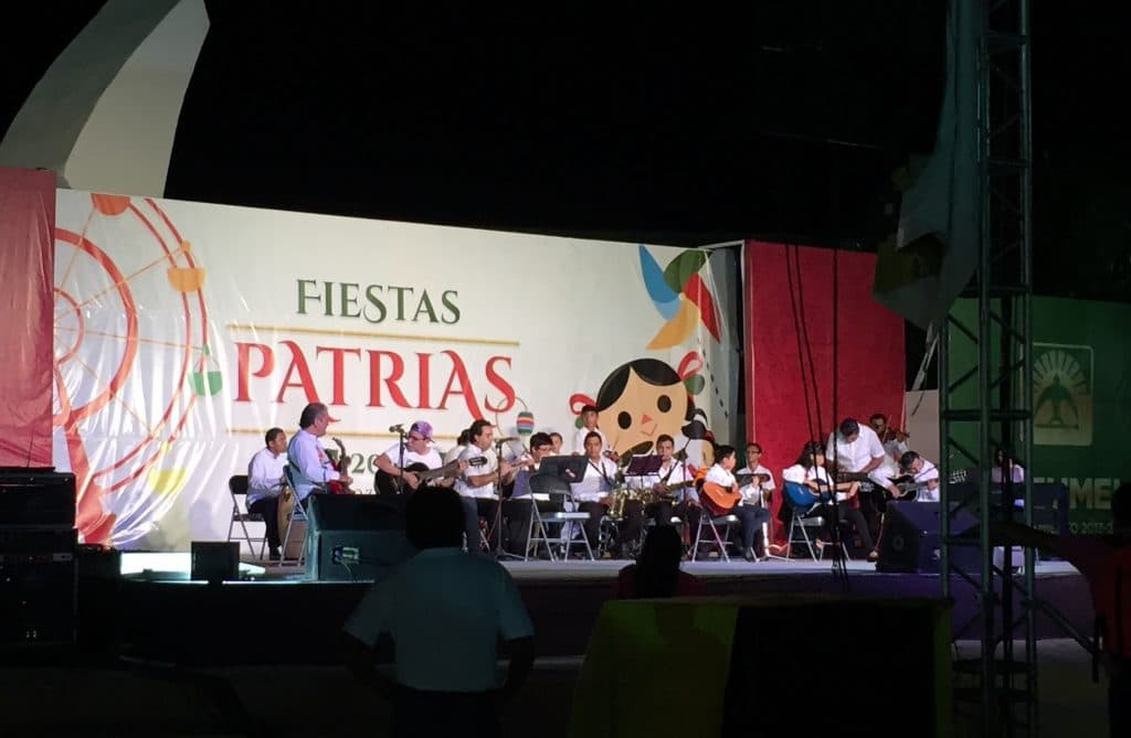 free kids concert in 2016 in front of the Cozumel Palacio