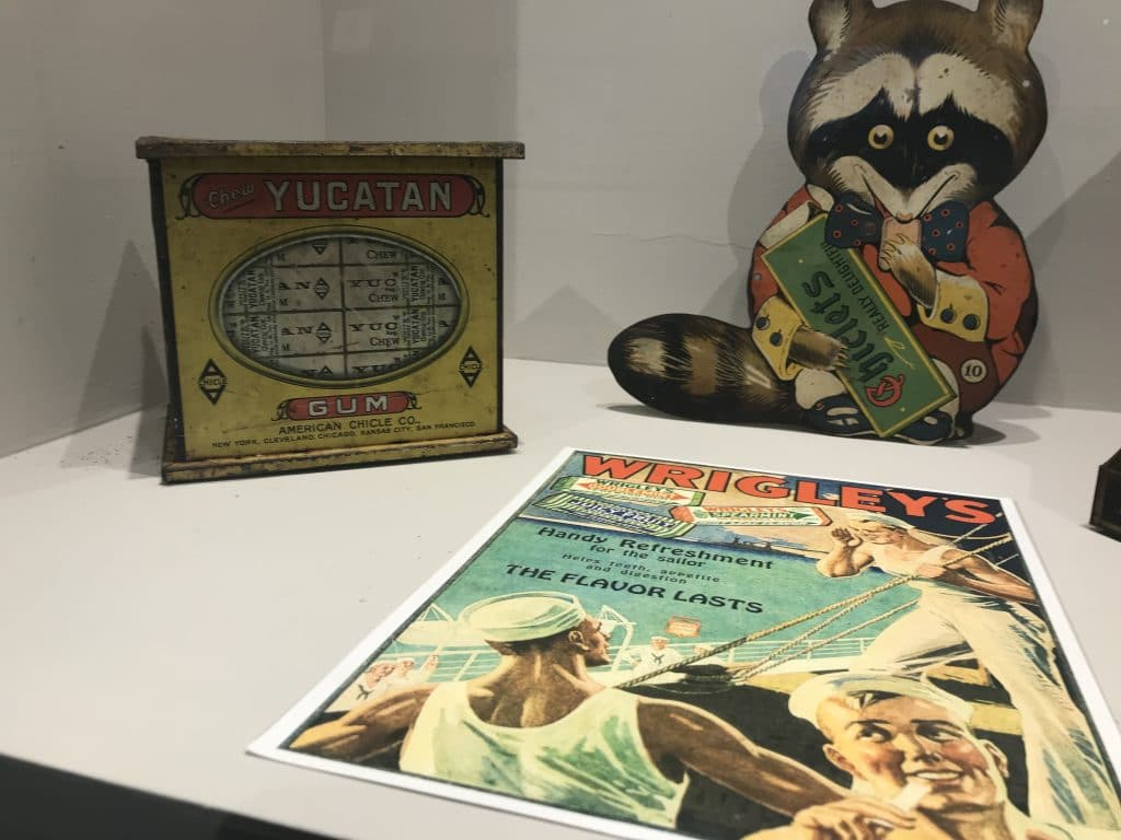 Cozumel museum display of it's chicle production for Wrigley's chewing gum in the 20th C