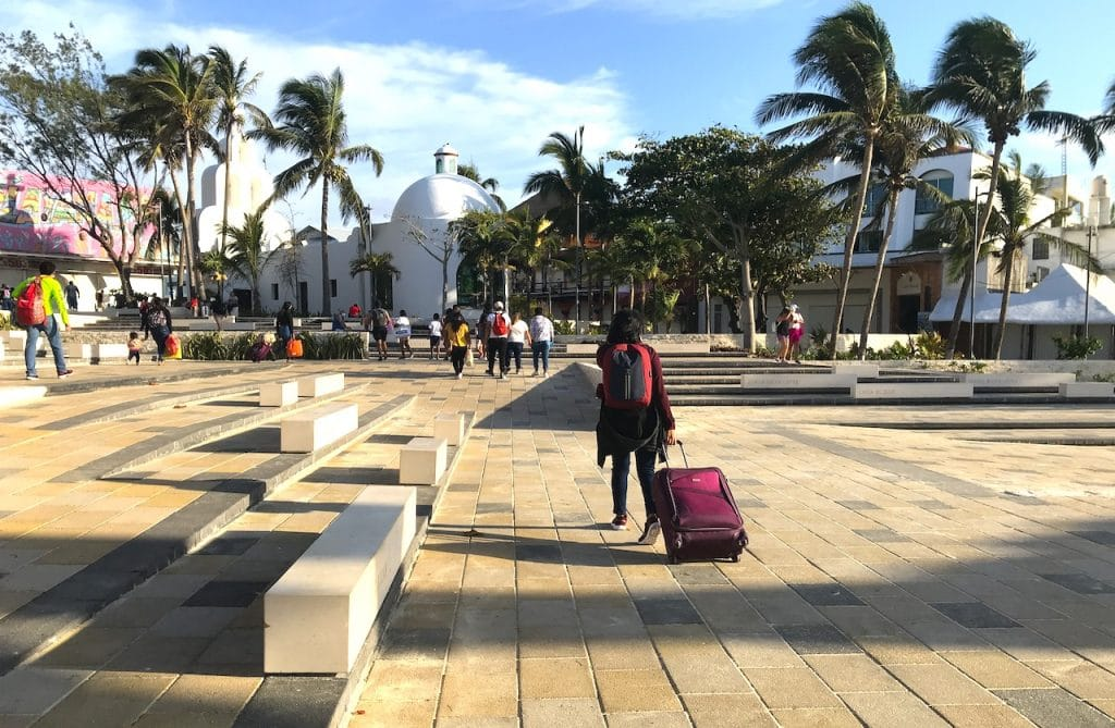 Newly remodeled and pavers at beach area in Playa del Carmen MX