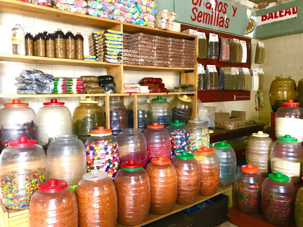 Spice shop at the public market in Cozumel
