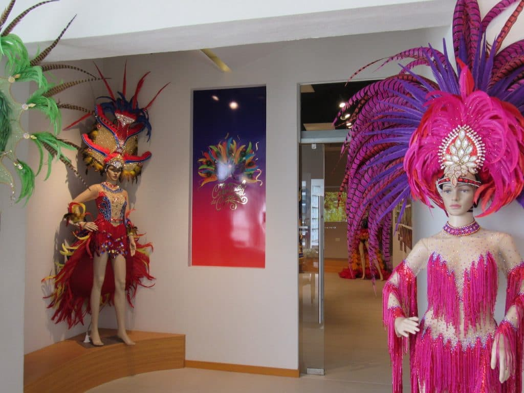 Updated gallery in Cozumel's Museum of the Island featuring annual Carnaval costumes