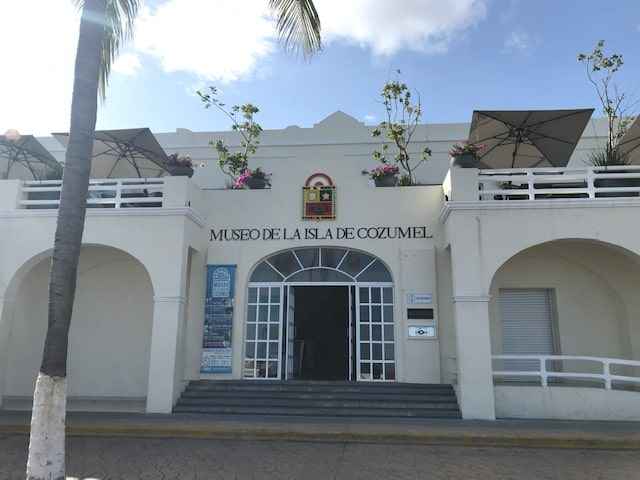 Exterior of main entrance to Cozumel's museum of the island.