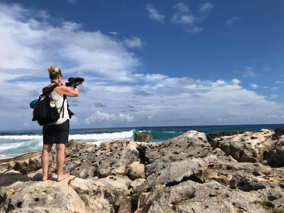 Photography enthusiast on our customized photography tour of Cozumel island.